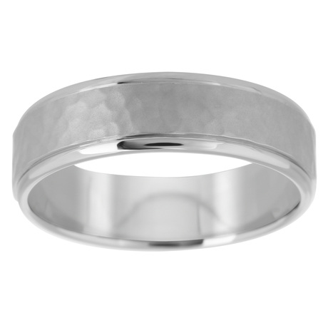 Palladium 500 6mm Hammered Band