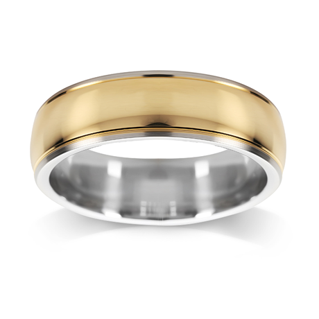 Platinum & 18ct Gold 5mm Polished Wedding Ring
