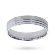 6mm gents heavy flat band in 18 carat white gold