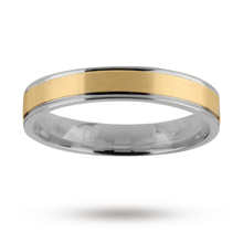 5mm wedding band in 18 carat yellow and white gold