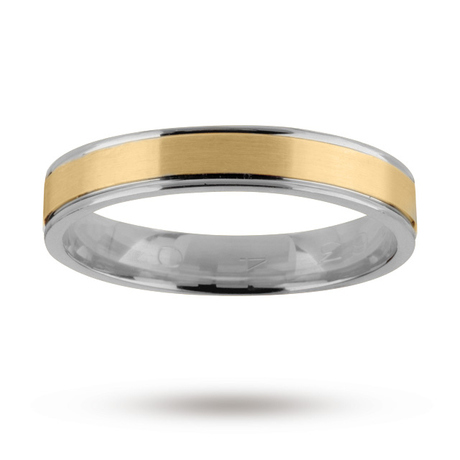 For Him - 5mm wedding band in 18 carat yellow and white gold - M08090085