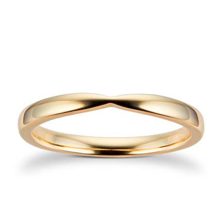 9ct Yellow Gold  2.5mm Pinched Wedding Ring
