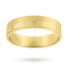 6mm fancy wedding ring in 9 carat yellow gold