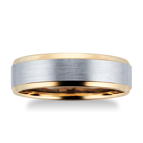 9ct Yellow Gold & Palladium Wedding Ring