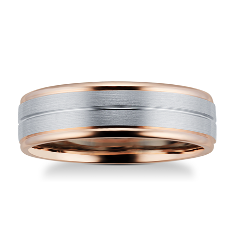 9ct Rose Gold & Palladium Wedding Ring