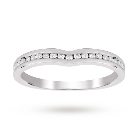 18ct White Gold 0.25 Total Carat Weight Diamond Set Shaped Band
