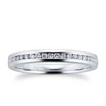 For Her - Ladies 0.08 total carat weight diamond 2mm wedding ring in 9 carat white gold - M08210560