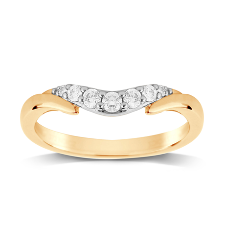 9ct Yellow Gold 0.20 Total Carat Weight Diamond Wedding Band