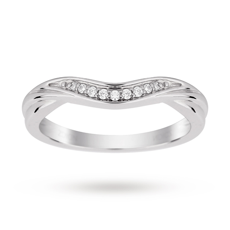 9ct White Gold 0.10cttw Diamond Wedding Ring