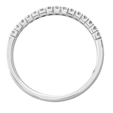 9ct White Gold 0.12cttw Diamond Claw Set Wedding Ring