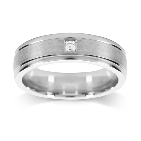 Platinum 0.05ct 6mm Wedding Ring