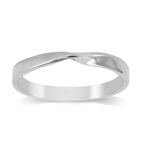 Platinum 2.5mm Twist Wedding Ring