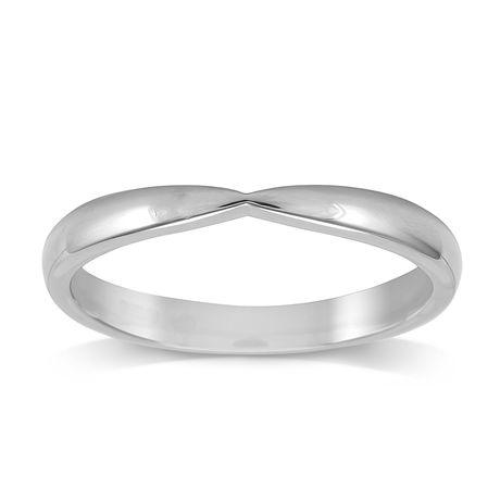 Platinum 2.5mm Pinched Wedding Ring