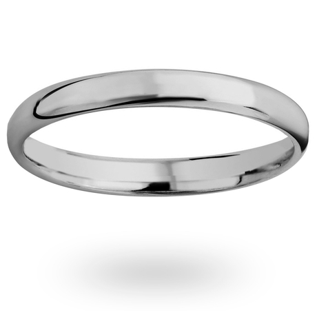 Platinum 2mm Luxury Modern Court Court Wedding Ring