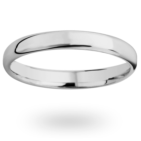 Platinum 2.5mm Luxury Modern Court Court Wedding Ring