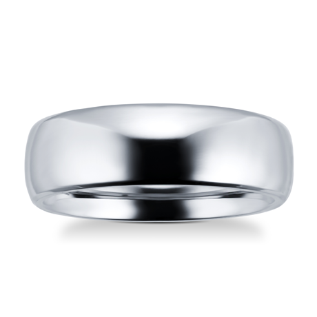 7mm gents plain band ring in titanium