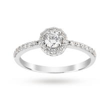 For Her - Brilliant Cut Cubic Zirconia Ring in 9 Carat White Gold - M10130002