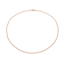 9ct Rose Gold 1mm 18
