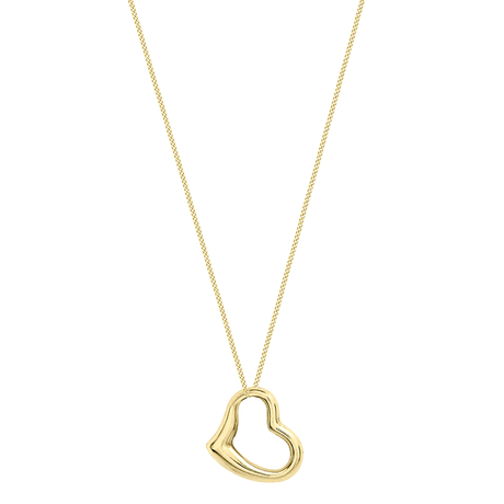 9ct Yellow Gold Small Floating Heart Pendant