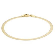 9ct Yellow Gold Quad Herringbone Bracelet
