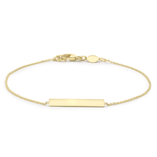 9ct Yellow Gold Bar Bracelet