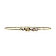 9ct Bicolour Gold Love Knot Bracelet