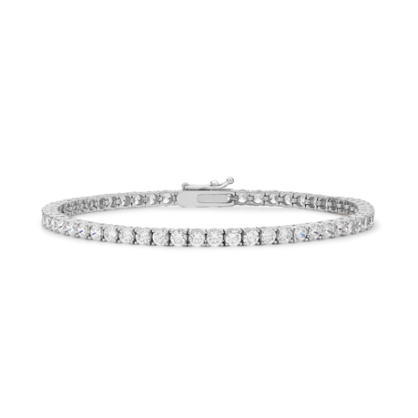 9ct White Gold 3mm Cubic Zirconia Tennis Bracelet