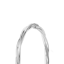 9ct White Gold 4mm Twist Tube Bangle