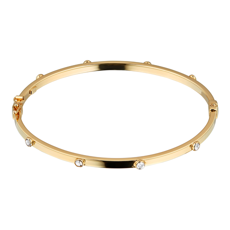 9ct Yellow Gold Cubic Zirconia Besel Bangle