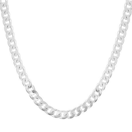 Sterling Silver Mens 20 Inch 300 Square Curb Chain