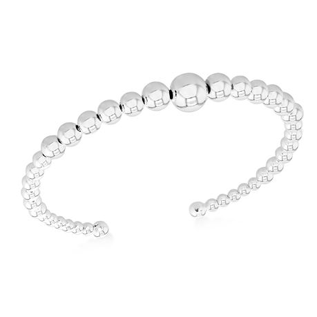Silver Graduated Beaded Bangle