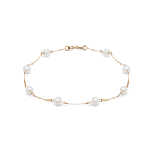 9ct Yellow Gold Multi Pearl Bracelet