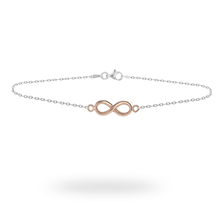 Silver And Rose Gold Plated Infinity Bracelet