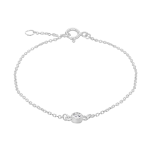 Silver April White Cubic Zirconia Bracelet
