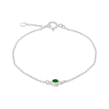 Silver May Green Cubic Zirconia Bracelet
