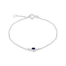 Silver September Blue Cubic Zirconia Bracelet