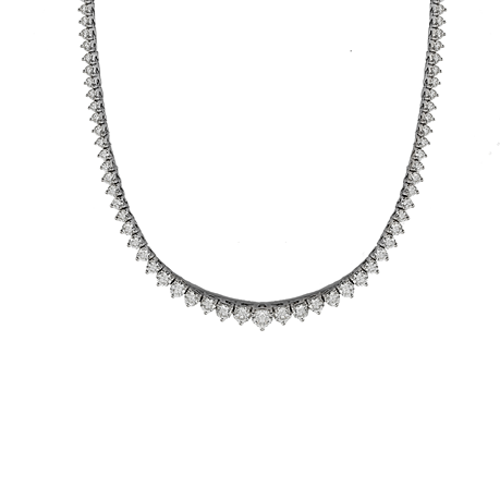 18ct White Gold 6.82ct Diamond Necklace