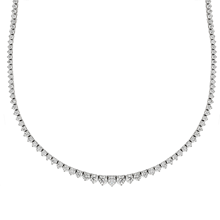 Mayors 18ct White Gold 8.08ct Graduated Diamond Necklace