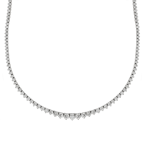 18ct White Gold 8.08ct Graduated Diamond Necklace