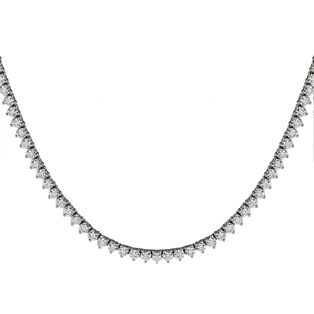 Mayors 18ct White Gold 12.97ct Diamond Necklace