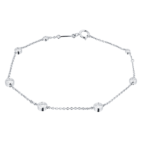 Mappin & Webb Gossamer 18ct White Gold 0.45cttw Diamond Bracelet