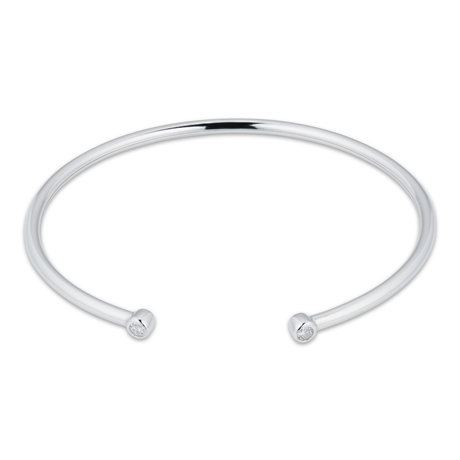 Gossamer Silver 0.15cttw Diamond Bangle