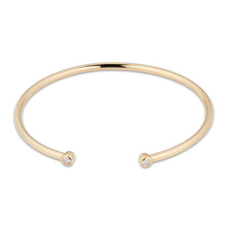 Gossamer 18ct Yellow Gold 0.15cttw Diamond Bangle