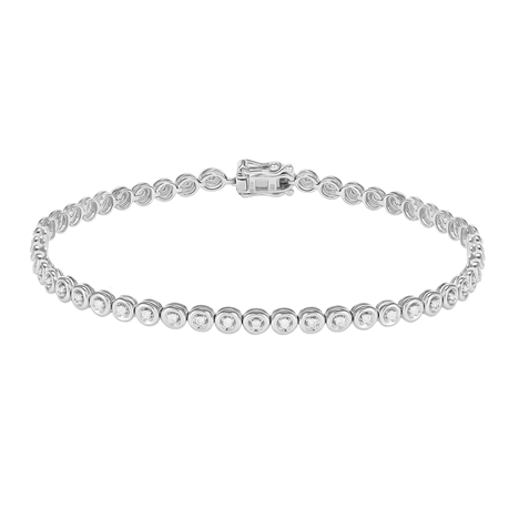 18ct White Gold 0.50cttw Diamond Bracelet