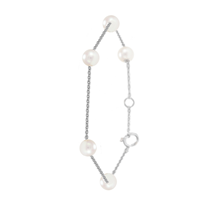 For Her - Mappin & Webb Gossamer 18ct White Gold 5mm Freshwater Pearl Bracelet - Gossamer Collection