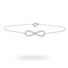 For Her - 9ct White Gold 0.20ct Diamond Infinity Bracelet - 12110806