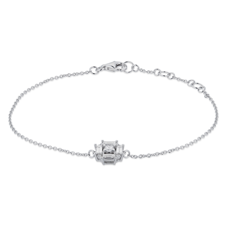 Renee 18ct White Gold 0.32cttw Diamond Cluster Bracelet