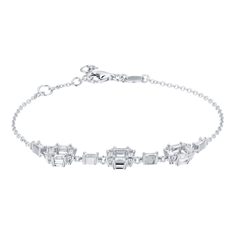 Renee 18ct White Gold 0.70cttw Diamond Open Square Bracelet