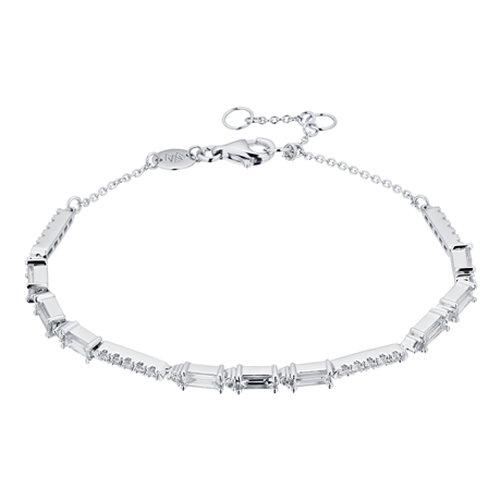 Renee 18ct White Gold 0.90cttw Diamond Line Bracelet