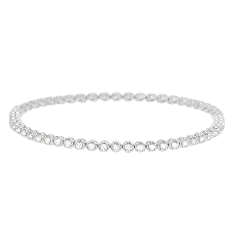 9ct White Gold 1.50ct Diamond Bracelet